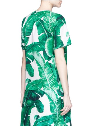 Back View - Click To Enlarge - Dolce & Gabbana - Banana leaf print poplin top