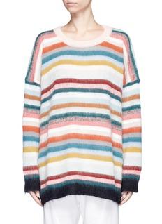 CHLOÉOversized stripe mohair sweater