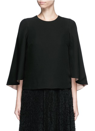 Main View - Click To Enlarge - Valentino - Open back batwing sleeve silk top