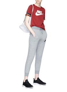 Nike Stripe cuff Swoosh logo print T-shirt