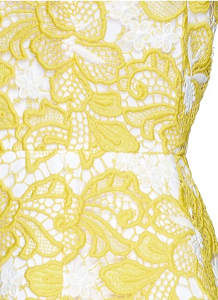 Detail View - Click To Enlarge - alice + olivia - 'Pacey' floral lace lantern dress
