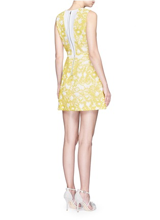 Back View - Click To Enlarge - alice + olivia - 'Pacey' floral lace lantern dress