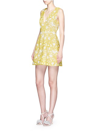 Figure View - Click To Enlarge - alice + olivia - 'Pacey' floral lace lantern dress
