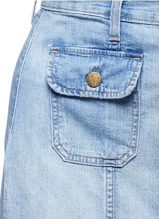 Current/Elliott-'The Sally' raw hem button skirt