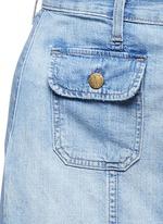 'The Sally' raw hem button skirt