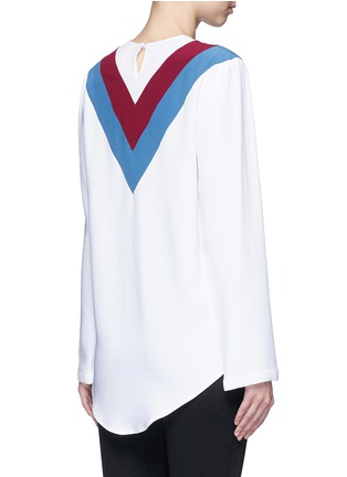 Back View - Click To Enlarge - Stella McCartney - 'Alida' football stripe cady top
