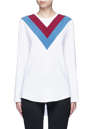 Main View - Click To Enlarge - Stella McCartney - 'Alida' football stripe cady top