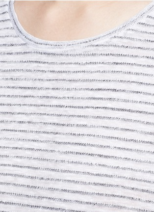 Detail View - Click To Enlarge - rag & bone/JEAN - 'Summer Stripe' textured linen-cotton T-shirt