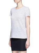 'Summer Stripe' textured linen-cotton T-shirt