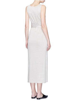 Back View - Click To Enlarge - Theory - 'Dantine' wrap waist marled knit dress