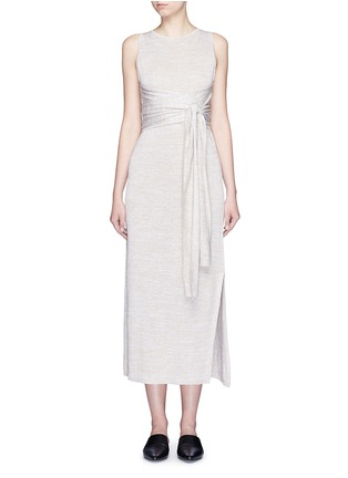 Main View - Click To Enlarge - Theory - 'Dantine' wrap waist marled knit dress