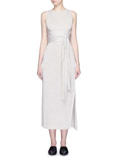Theory'Dantine' wrap waist marled knit dress