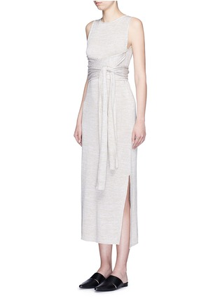 Figure View - Click To Enlarge - Theory - 'Dantine' wrap waist marled knit dress