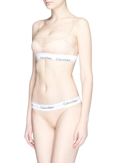 Calvin Klein Underwear 'Modern' logo band lace bralette