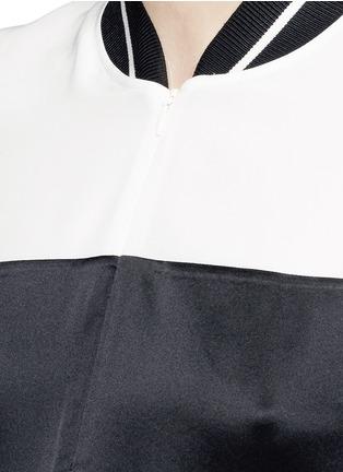 Detail View - Click To Enlarge - rag & bone - 'Nico' satin sport stripe silk dress