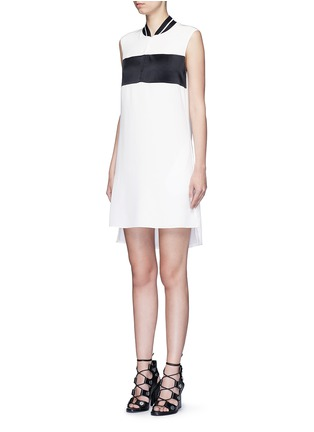 Front View - Click To Enlarge - rag & bone - 'Nico' satin sport stripe silk dress