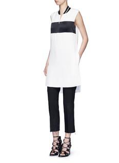 rag & bone'Nico' satin sport stripe silk dress