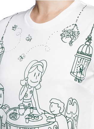 Detail View - Click To Enlarge - Dolce & Gabbana - Victorian Garden print jersey T-shirt