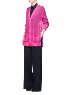 GivenchyWool and chiffon oversized cardigan