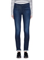 'Skinny' mid rise cropped jeans