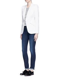J Brand'Skinny' mid rise cropped jeans