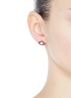 De Yeen 贝壳珍珠嘴唇造型耳钉