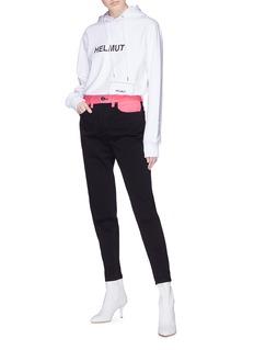 rag & bone/JEAN 'Ash' contrast waist panel jeans
