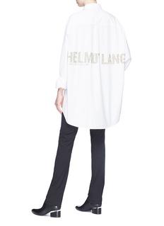 Helmut Lang Sequin logo shirt dress