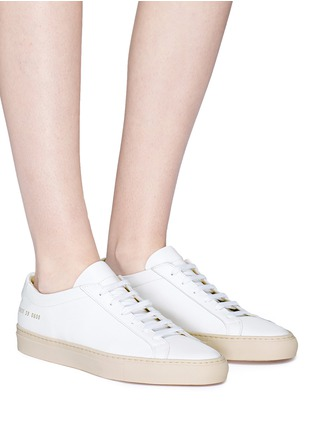 Figure View - Click To Enlarge - Common Projects - 'Achilles Low' leather sneakers