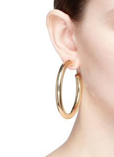 Kenneth Jay Lane 60mm hoop earrings