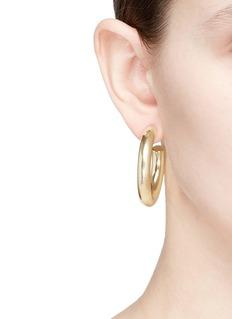 Kenneth Jay Lane 40mm hoop earrings