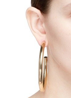 Kenneth Jay Lane 80mm hoop earrings