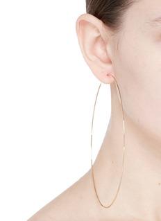 Kenneth Jay Lane 110mm hoop earrings