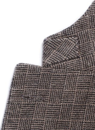 Detail View - Click To Enlarge - Boglioli - 'K-Jacket' check cashmere-wool soft blazer