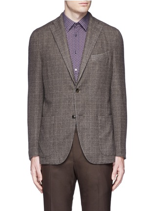 Main View - Click To Enlarge - Boglioli - 'K-Jacket' check cashmere-wool soft blazer