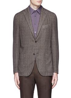 Boglioli'K-Jacket' check cashmere-wool soft blazer