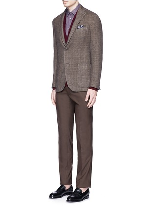 Figure View - Click To Enlarge - Boglioli - 'K-Jacket' check cashmere-wool soft blazer