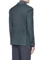 'K-Jacket' wool twill soft blazer