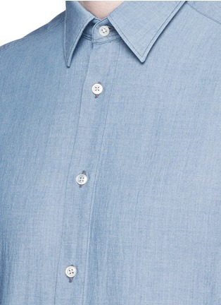 Detail View - Click To Enlarge - Boglioli - Cotton chambray shirt