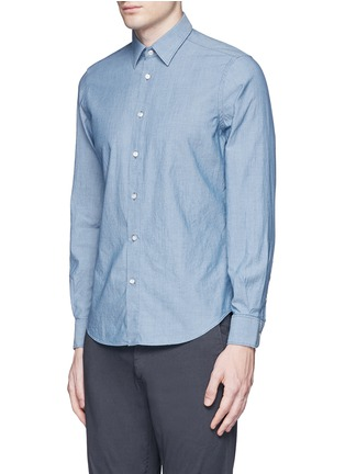 Front View - Click To Enlarge - Boglioli - Cotton chambray shirt