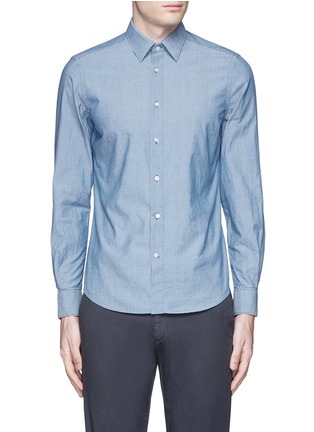 Main View - Click To Enlarge - Boglioli - Cotton chambray shirt