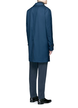Back View - Click To Enlarge - Boglioli - Reversible wool and shell car coat
