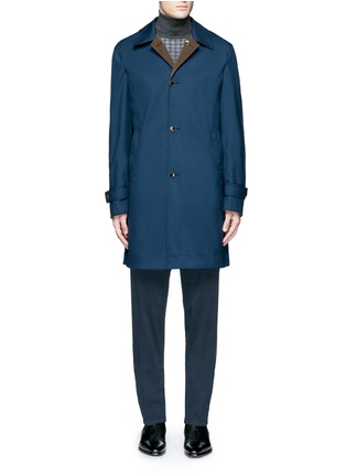 Main View - Click To Enlarge - Boglioli - Reversible wool and shell car coat
