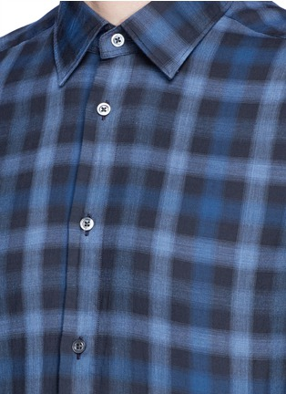 Detail View - Click To Enlarge - Boglioli - Check cotton shirt