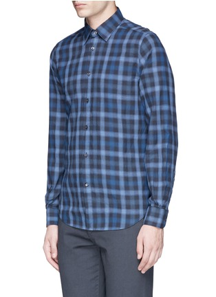 Front View - Click To Enlarge - Boglioli - Check cotton shirt