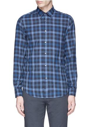 Main View - Click To Enlarge - Boglioli - Check cotton shirt