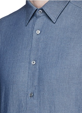 Detail View - Click To Enlarge - Boglioli - Diamond jacquard cotton shirt