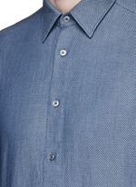 Diamond jacquard cotton shirt