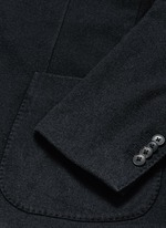 'K-Jacket' wool flannel soft blazer