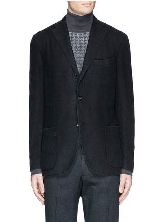Main View - Click To Enlarge - Boglioli - 'K-Jacket' wool flannel soft blazer
